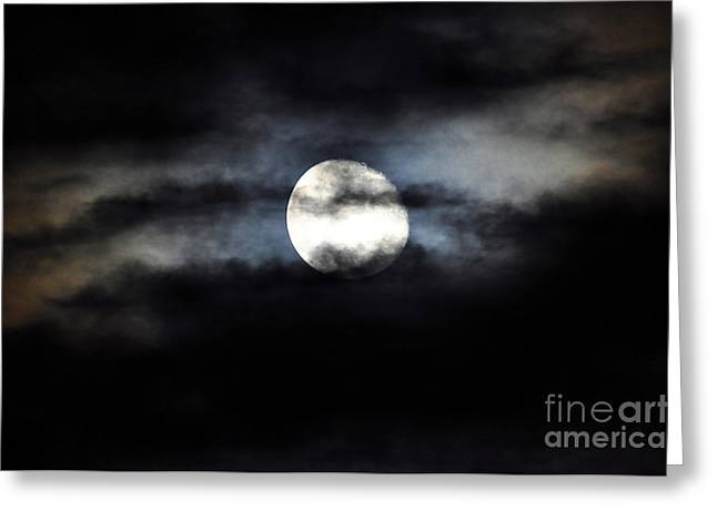 Luna Greeting Cards - Glorious Gibbous Greeting Card by Al Powell Photography USA