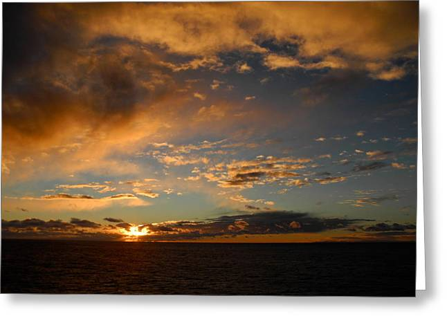 Kirsten Giving Greeting Cards - Glorious Sunrise on the Indian Ocean Greeting Card by Kirsten Giving