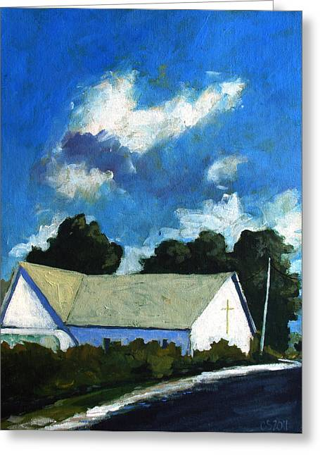 Glory Barn Greeting Card by Charlie Spear