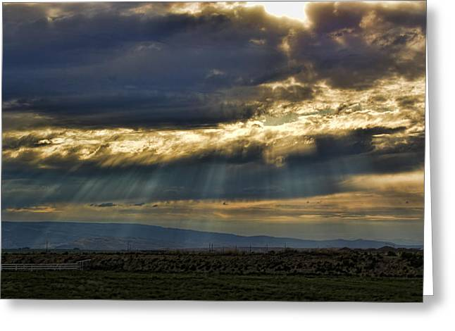 Fineartamerica Greeting Cards - Glory of Heaven and Earth Greeting Card by James Heckt