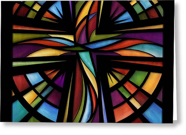 Jewel Tone Greeting Cards - Glory To God Greeting Card by Shevon Johnson