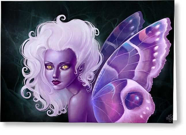 Fairies Digital Art Greeting Cards - Glow in the Dark Greeting Card by Caroline Jamhour