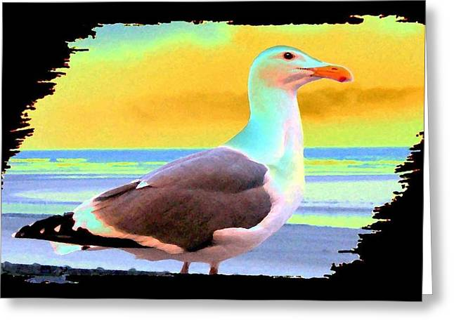 Seaside Digital Greeting Cards - Glow Of The Sunset Greeting Card by Will Borden