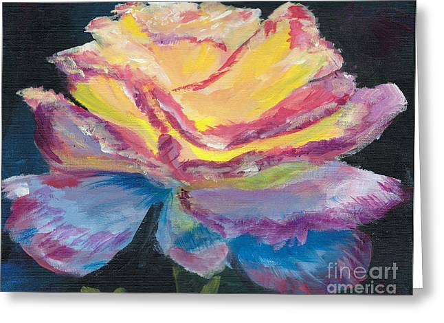 Rose Prints Greeting Cards - Glow Rose Greeting Card by Jamie Hartley