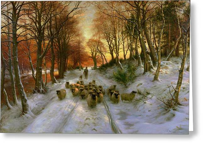 20th Century Greeting Cards - Glowed with Tints of Evening Hours Greeting Card by Joseph Farquharson