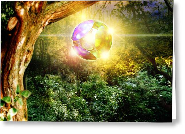 Foo Fighters Greeting Cards - Glowing Ball Ufo Greeting Card by Victor Habbick Visions