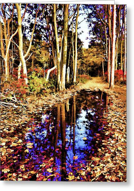 Autumn Print Greeting Cards - Glowing Beauty Greeting Card by Lourry Legarde