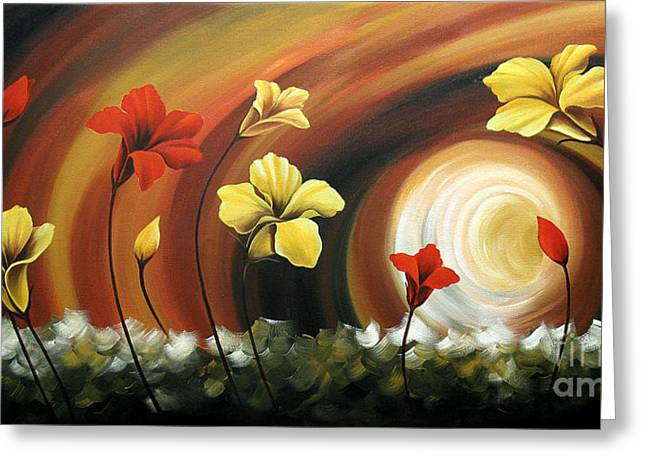 Floral Photographs Paintings Greeting Cards - Glowing Flowers 6 Greeting Card by Uma Devi