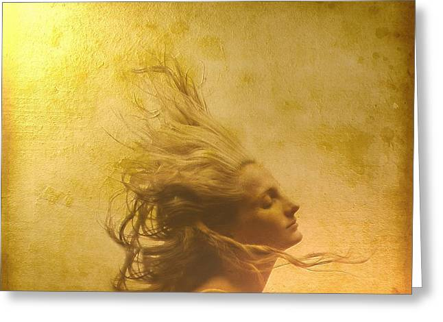 Glowing In The Wind Greeting Card by Gun Legler