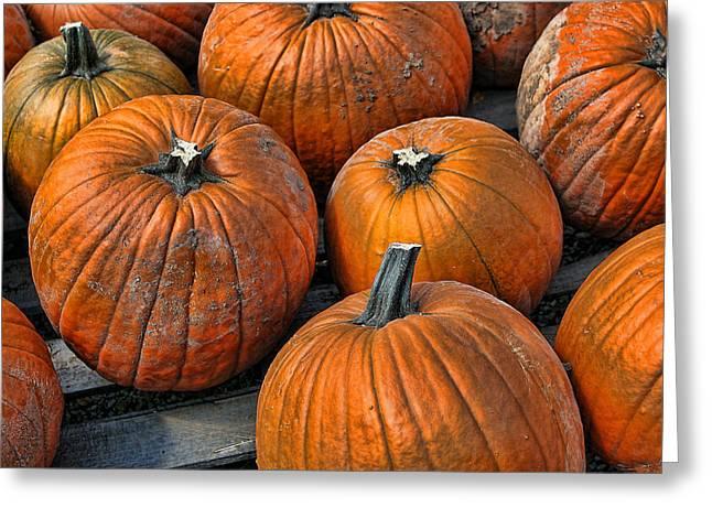 Food Digital Art Greeting Cards - Glowing Pumpkins Greeting Card by Linda Phelps