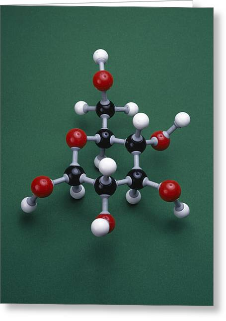 Glucose Greeting Cards - Glucose Isomer Model Greeting Card by Andrew Lambert Photography