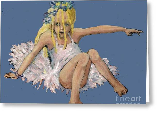 Ballet Dancers Drawings Greeting Cards - Go Away Greeting Card by Patty Fleckenstein