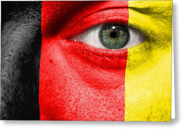 Euro 2012 Greeting Cards - Go Belgium Greeting Card by Semmick Photo