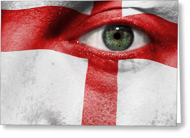 Euro 2012 Greeting Cards - Go England Greeting Card by Semmick Photo