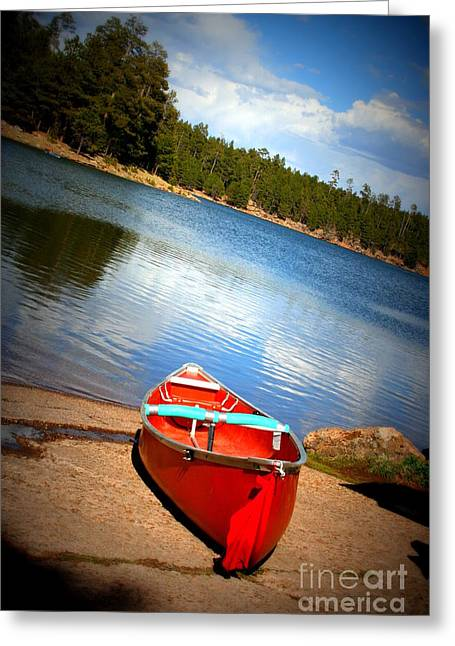 Kings Canyon Greeting Cards - Go Float Your Boat Greeting Card by Julie Lueders