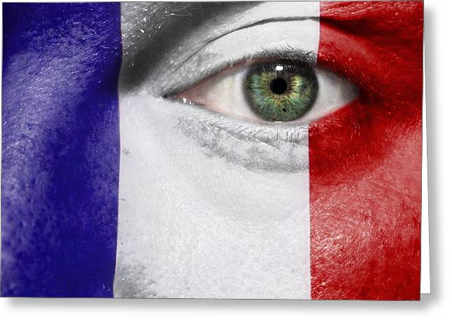 Euro 2012 Greeting Cards - Go France Greeting Card by Semmick Photo