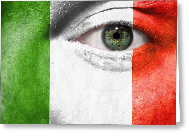 Euro 2012 Greeting Cards - Go Italy Greeting Card by Semmick Photo
