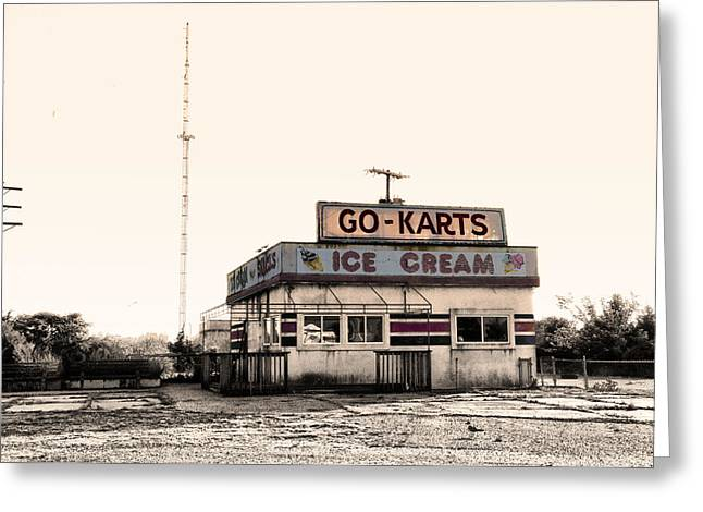 Go Cart Greeting Cards - Go-Karts - Wildwood New Jersey Greeting Card by Bill Cannon