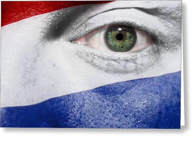 Euro 2012 Greeting Cards - Go Netherlands Greeting Card by Semmick Photo