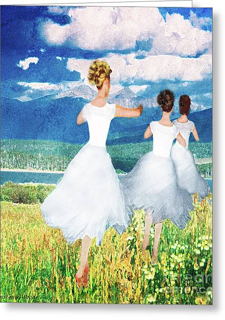 Dance Of Joy Greeting Cards - Go Out With Joy Greeting Card by Constance Woods