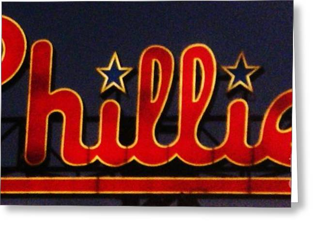 Phillies Photographs Greeting Cards - Go Phils Greeting Card by Snapshot  Studio