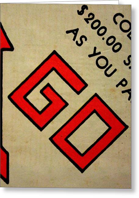 Monopoly Greeting Cards - Go Greeting Card by Robert Cunningham