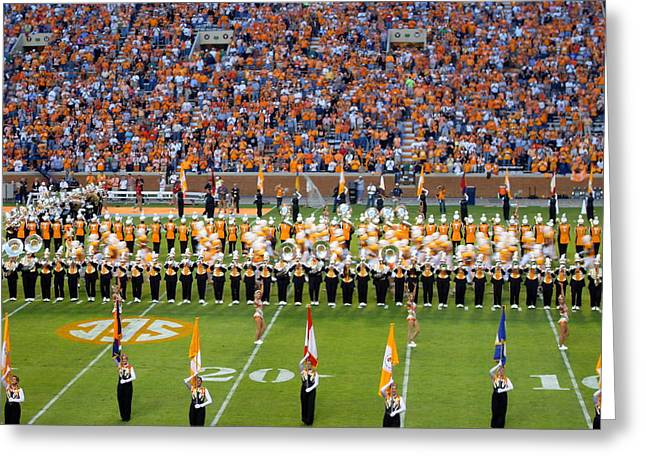 Marching Band Greeting Cards - Go Vols Greeting Card by April Patterson
