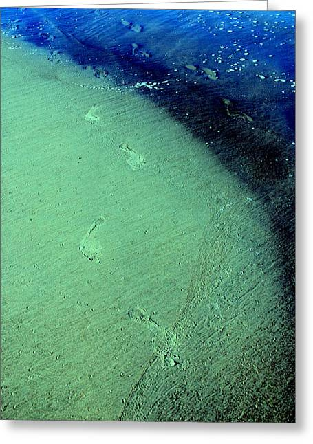 Footprints In The Sand Greeting Cards - Go Your Way Greeting Card by Susanne Van Hulst