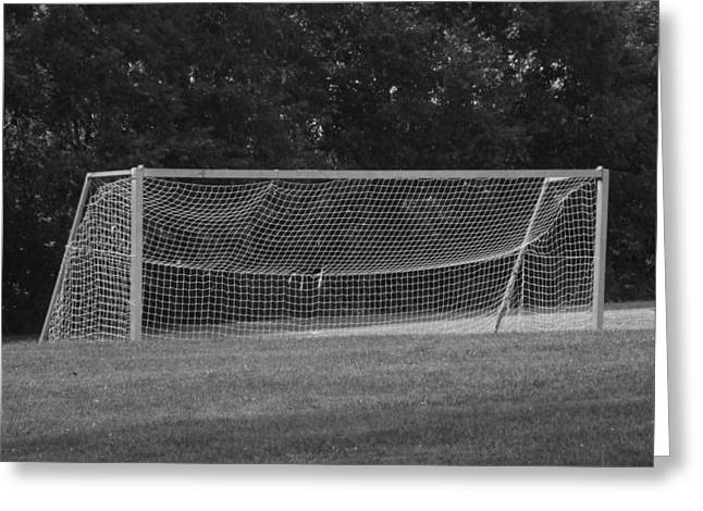 Soccer Net Greeting Cards - Goal Greeting Card by Michael L Kimble