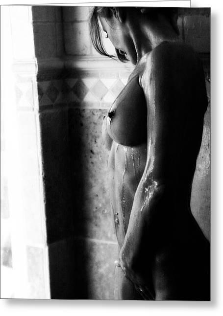 Nude Photograph Greeting Cards - Gocce Di Pioggia Greeting Card by Tonino Guzzo