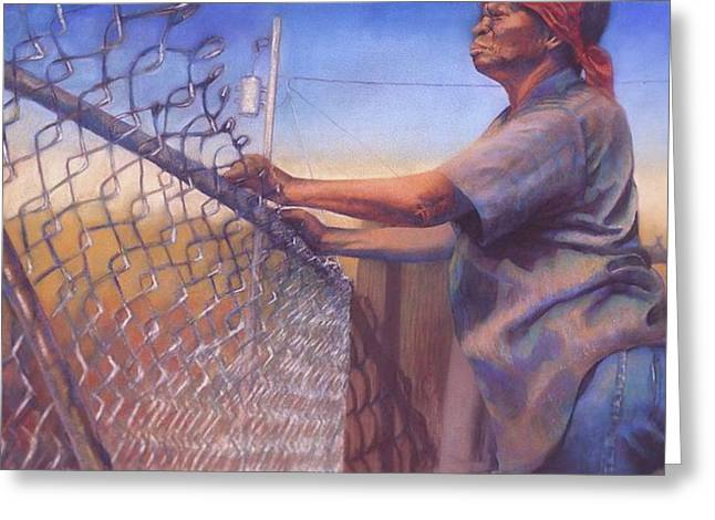 Fence Pastels Greeting Cards - God Bless All My Children Greeting Card by Curtis James