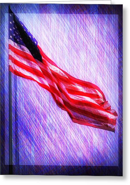 Old Glory Digital Art Greeting Cards - God Bless America Greeting Card by Bill Cannon