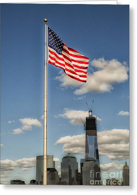 Leda Photography Greeting Cards - God Bless America Greeting Card by Leslie Leda