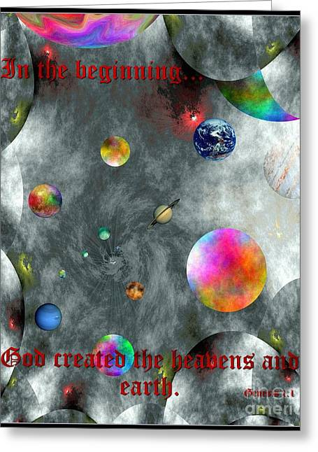 Yahweh Greeting Cards - God Created Greeting Card by Glenn McCarthy Art and Photography