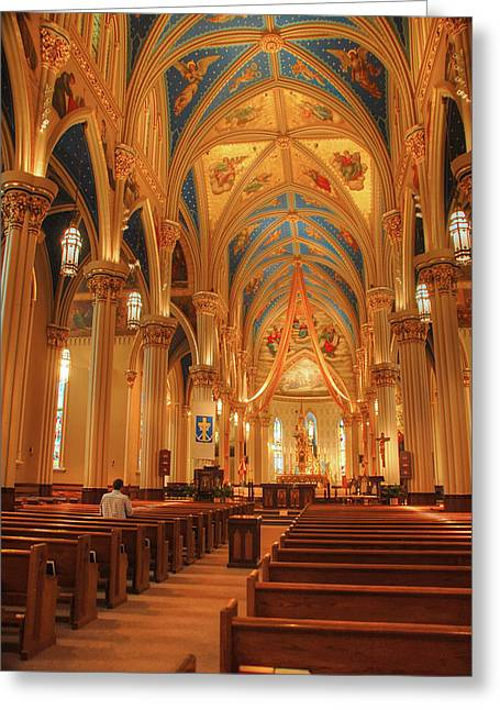 Basillica Greeting Cards - God Do You Hear Me Greeting Card by Ken Smith
