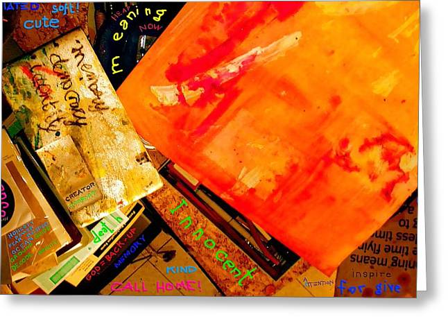 Forgiven Mixed Media Greeting Cards - God Equals Back Up Memory Safe From Decay Mt Trash Partitioning And Even Hacking Greeting Card by Contemporary Luxury Fine Art