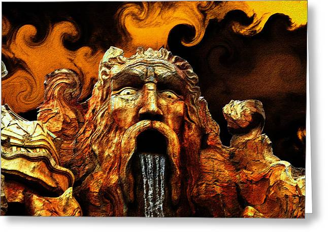 Firestorm Greeting Cards - God of the Four Elements Greeting Card by David Lee Thompson
