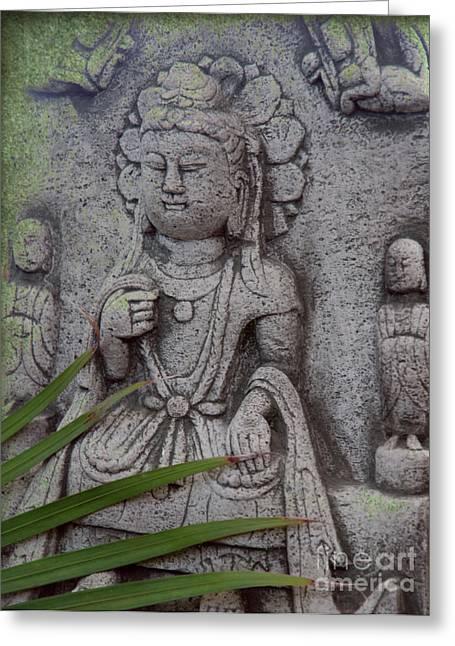 Figurative Sculpture Greeting Cards - God Shiva Greeting Card by Susanne Van Hulst