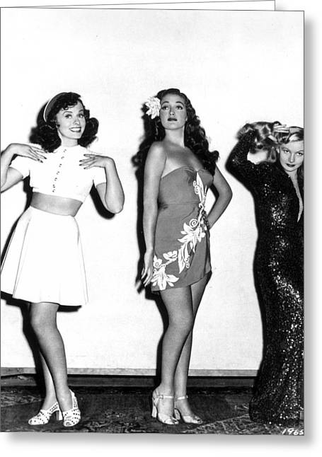 Starlet Greeting Cards - Goddard, Lamour & Lake Greeting Card by Granger