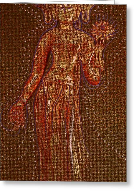 Gold Star Mother Greeting Cards - Goddess 1 Greeting Card by First Star Art