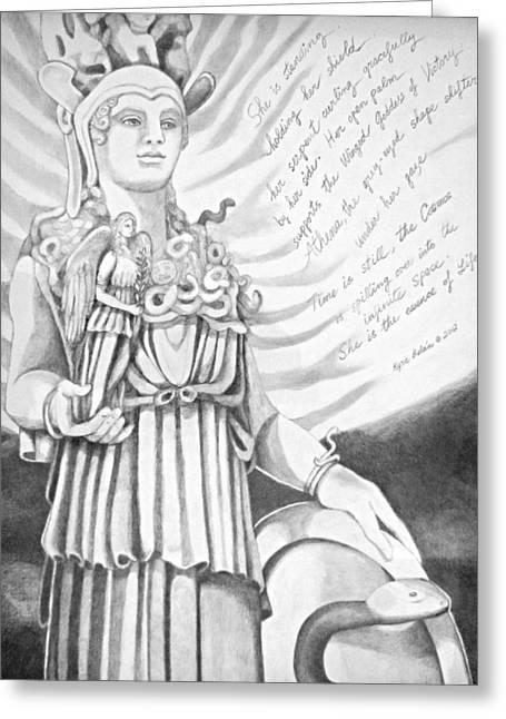 Goddess Athena Greeting Card by Kyra Belan