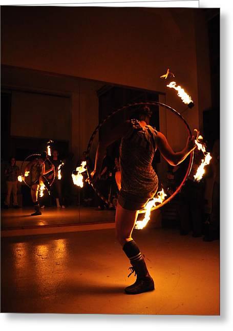 Fire Pyrography Greeting Cards - Goddess Kali 2 Greeting Card by Joseph  Cusano IV
