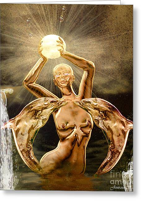 Rosy Hall Greeting Cards - Goddesses 2 Greeting Card by Rosy Hall