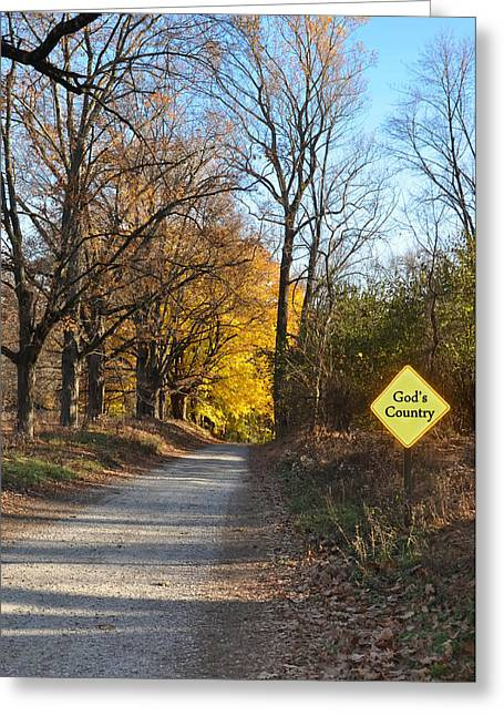Country Dirt Roads Digital Greeting Cards - Gods Country Greeting Card by Bill Cannon