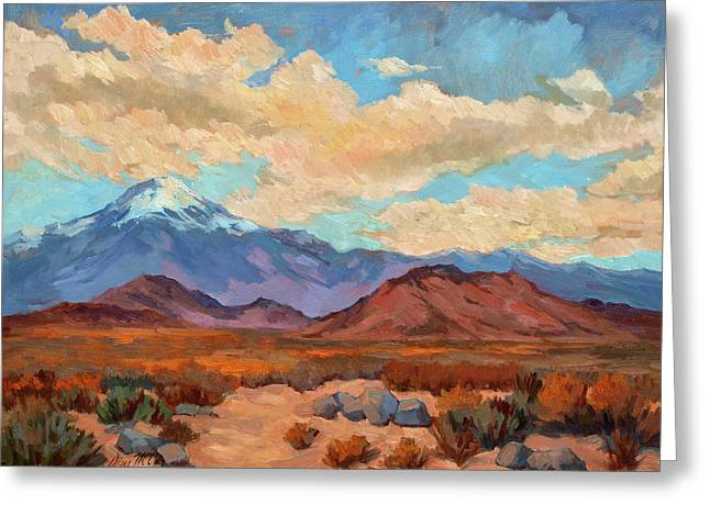 Mt. Shasta Greeting Cards - Gods Creation Mt. San Gorgonio  Greeting Card by Diane McClary