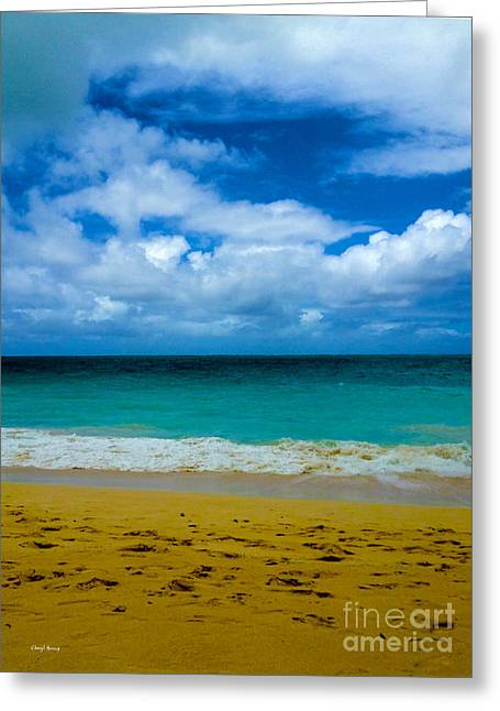 Ocean Images Greeting Cards - Gods Gift Greeting Card by Cheryl Young