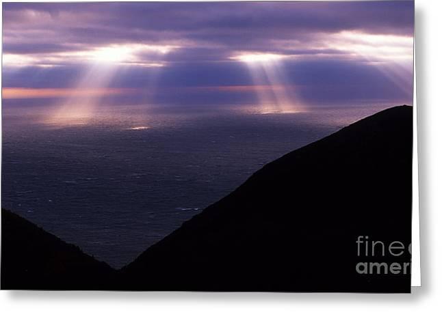 Nova Scotia Photographers Greeting Cards - Gods Light Greeting Card by Bob Christopher