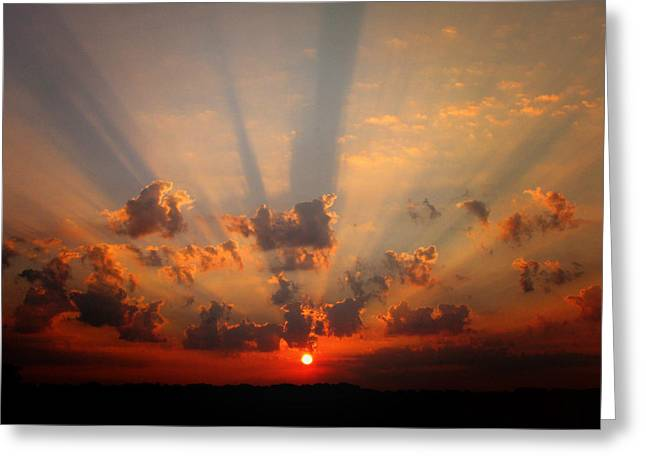 God's Morning Gift Greeting Card by Deon Grandon