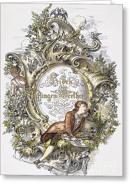 Titlepage Greeting Cards - Goethe: Werther Greeting Card by Granger