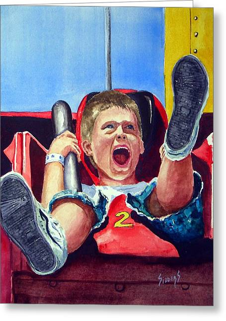 Carnival Ride Greeting Cards - Goin Down Greeting Card by Sam Sidders